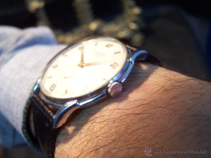 Relojes de pulsera: Reloj grande, de caballero, antiguo, de pulsera y de carga manual, JNSA WACTH OLYMPIC - Foto 13 - 42578749