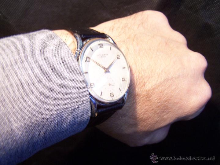 Relojes de pulsera: Reloj grande, de caballero, antiguo, de pulsera y de carga manual, JNSA WACTH OLYMPIC - Foto 14 - 42578749