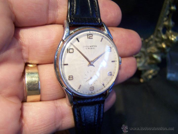 Relojes de pulsera: Reloj grande, de caballero, antiguo, de pulsera y de carga manual, JNSA WACTH OLYMPIC - Foto 15 - 42578749