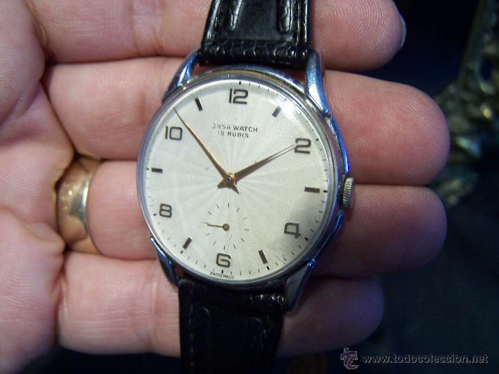 Relojes de pulsera: Reloj grande, de caballero, antiguo, de pulsera y de carga manual, JNSA WACTH OLYMPIC - Foto 16 - 42578749