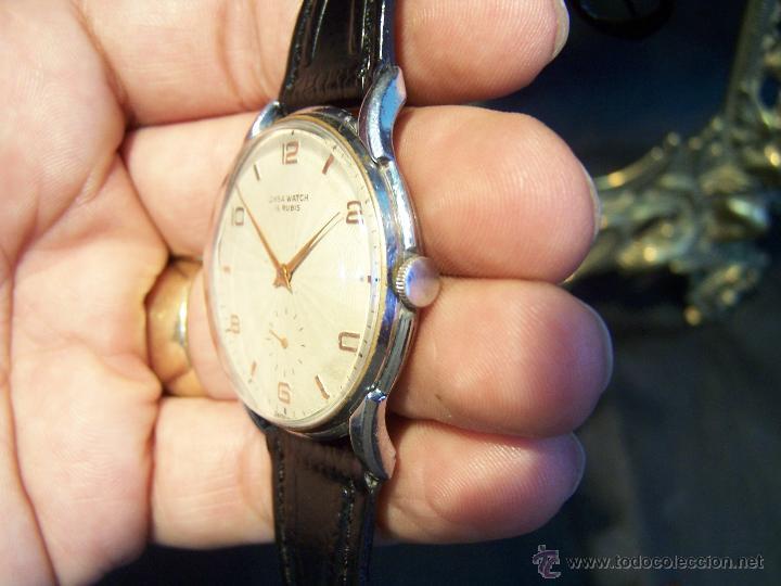 Relojes de pulsera: Reloj grande, de caballero, antiguo, de pulsera y de carga manual, JNSA WACTH OLYMPIC - Foto 17 - 42578749