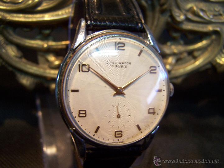 Relojes de pulsera: Reloj grande, de caballero, antiguo, de pulsera y de carga manual, JNSA WACTH OLYMPIC - Foto 20 - 42578749