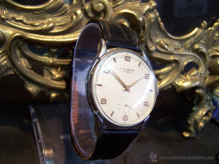 Relojes de pulsera: Reloj grande, de caballero, antiguo, de pulsera y de carga manual, JNSA WACTH OLYMPIC - Foto 22 - 42578749