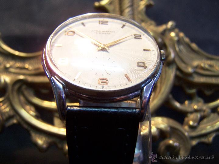 Relojes de pulsera: Reloj grande, de caballero, antiguo, de pulsera y de carga manual, JNSA WACTH OLYMPIC - Foto 23 - 42578749