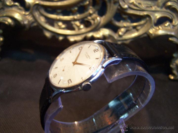 Relojes de pulsera: Reloj grande, de caballero, antiguo, de pulsera y de carga manual, JNSA WACTH OLYMPIC - Foto 24 - 42578749