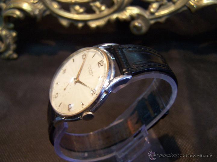 Relojes de pulsera: Reloj grande, de caballero, antiguo, de pulsera y de carga manual, JNSA WACTH OLYMPIC - Foto 25 - 42578749