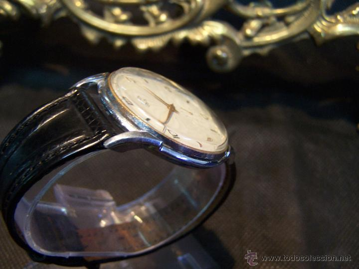 Relojes de pulsera: Reloj grande, de caballero, antiguo, de pulsera y de carga manual, JNSA WACTH OLYMPIC - Foto 27 - 42578749