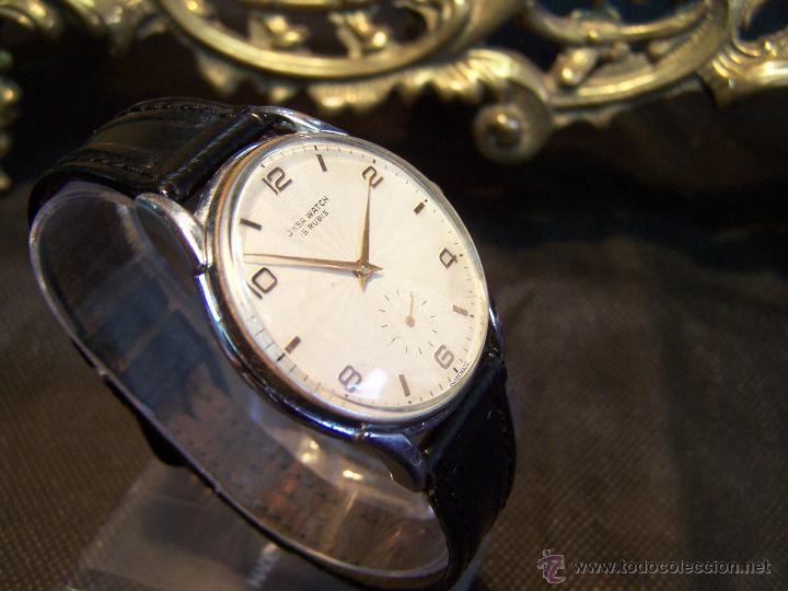 Relojes de pulsera: Reloj grande, de caballero, antiguo, de pulsera y de carga manual, JNSA WACTH OLYMPIC - Foto 28 - 42578749