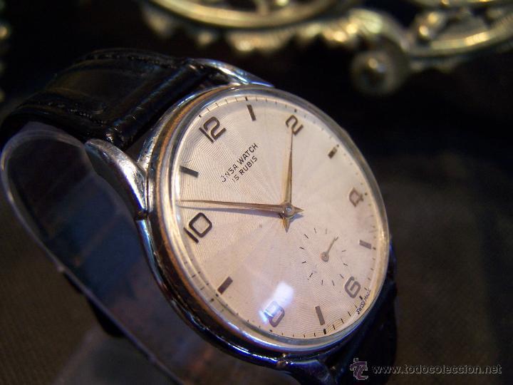 Relojes de pulsera: Reloj grande, de caballero, antiguo, de pulsera y de carga manual, JNSA WACTH OLYMPIC - Foto 29 - 42578749