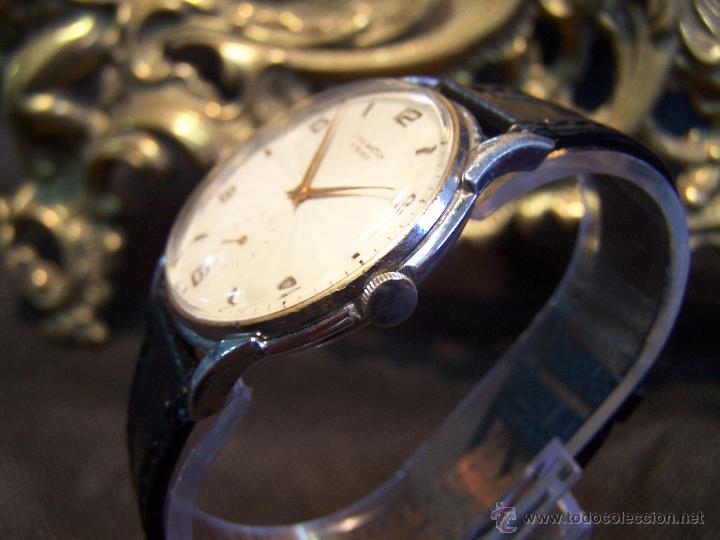 Relojes de pulsera: Reloj grande, de caballero, antiguo, de pulsera y de carga manual, JNSA WACTH OLYMPIC - Foto 30 - 42578749