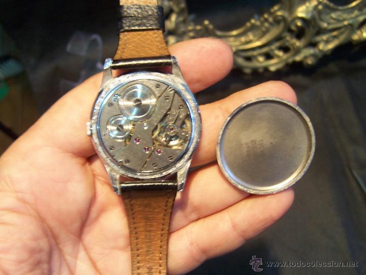 Relojes de pulsera: Reloj grande, de caballero, antiguo, de pulsera y de carga manual, JNSA WACTH OLYMPIC - Foto 31 - 42578749