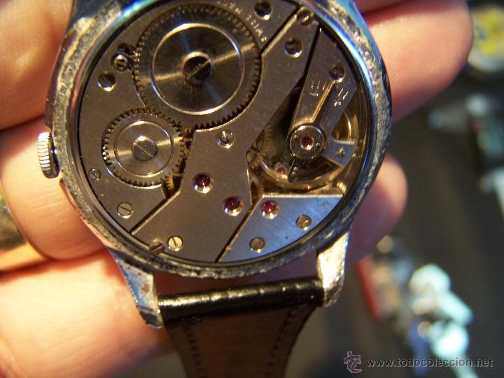 Relojes de pulsera: Reloj grande, de caballero, antiguo, de pulsera y de carga manual, JNSA WACTH OLYMPIC - Foto 32 - 42578749