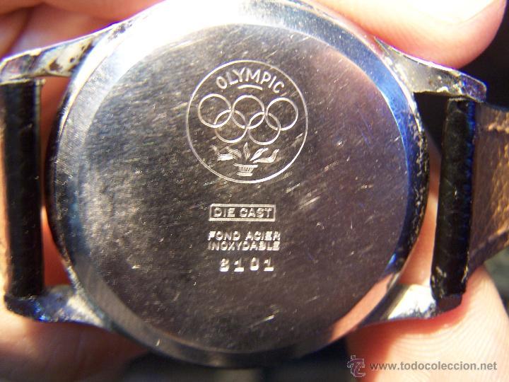 Relojes de pulsera: Reloj grande, de caballero, antiguo, de pulsera y de carga manual, JNSA WACTH OLYMPIC - Foto 34 - 42578749
