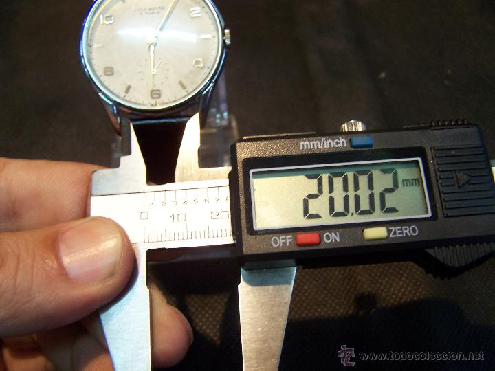 Relojes de pulsera: Reloj grande, de caballero, antiguo, de pulsera y de carga manual, JNSA WACTH OLYMPIC - Foto 37 - 42578749
