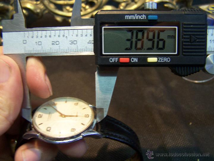 Relojes de pulsera: Reloj grande, de caballero, antiguo, de pulsera y de carga manual, JNSA WACTH OLYMPIC - Foto 40 - 42578749