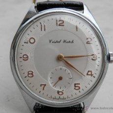 Relojes de pulsera: RELOJ MAQUINARIA MECÁNICA SUIZA CRISTAL WATCH. SUPREM RELOJ. AÑOS 40. Lote 42949809
