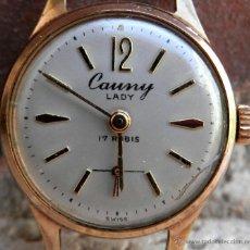 Relojes de pulsera: CAUNY LADY MUJER AÑOS 50, NECESITA REVISIÓN.. Lote 43080822
