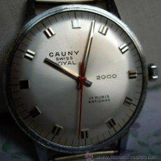 Relojes de pulsera: CAUNY ROYAL SWISS ANTIGUEDAD 35 AÑOS. CUERDA MANUAL, RELOJ PRACTICAMENTE NUEVO.. Lote 27176821