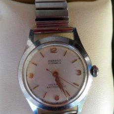 Relojes de pulsera: JEAN PERRET RELOJ PARA HOMBRE, DE CUERDA, 17 RUBÍS, CORREA DE ACERO INOXIDABLE. Lote 123443830