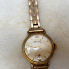 Relojes de pulsera: RELOJ DE PULSERA DE SEÑORA CHAPADO ORO DUWARD. AÑOS 50. Lote 123260254