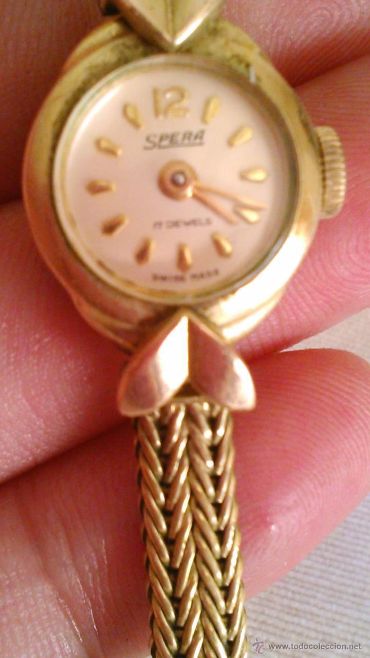 PRECIOSO RELOJ BAÑO DE ORO , DE SEÑORA MARCA SPERA 17 JEWELS SWISS MADE. (Relojes - Pulsera Carga Manual)