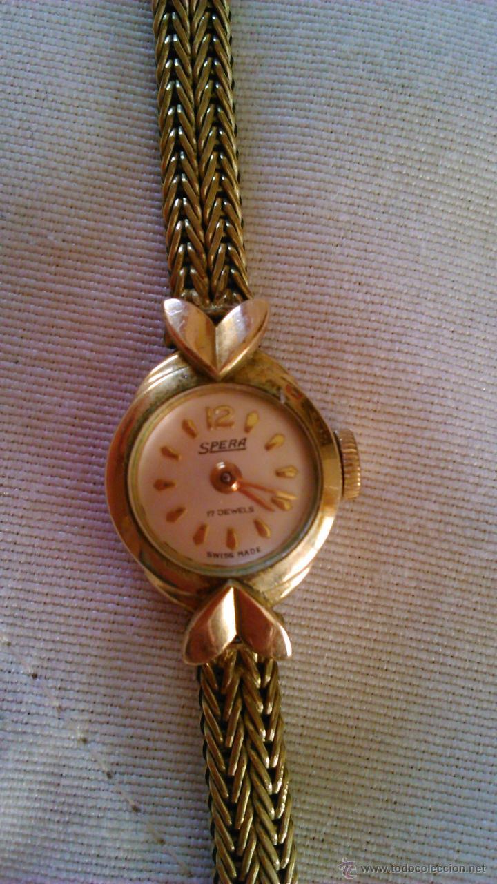 Relojes de pulsera: Precioso reloj baño de oro , de señora marca SPERA 17 jewels SWISS MADE. - Foto 3 - 43479891