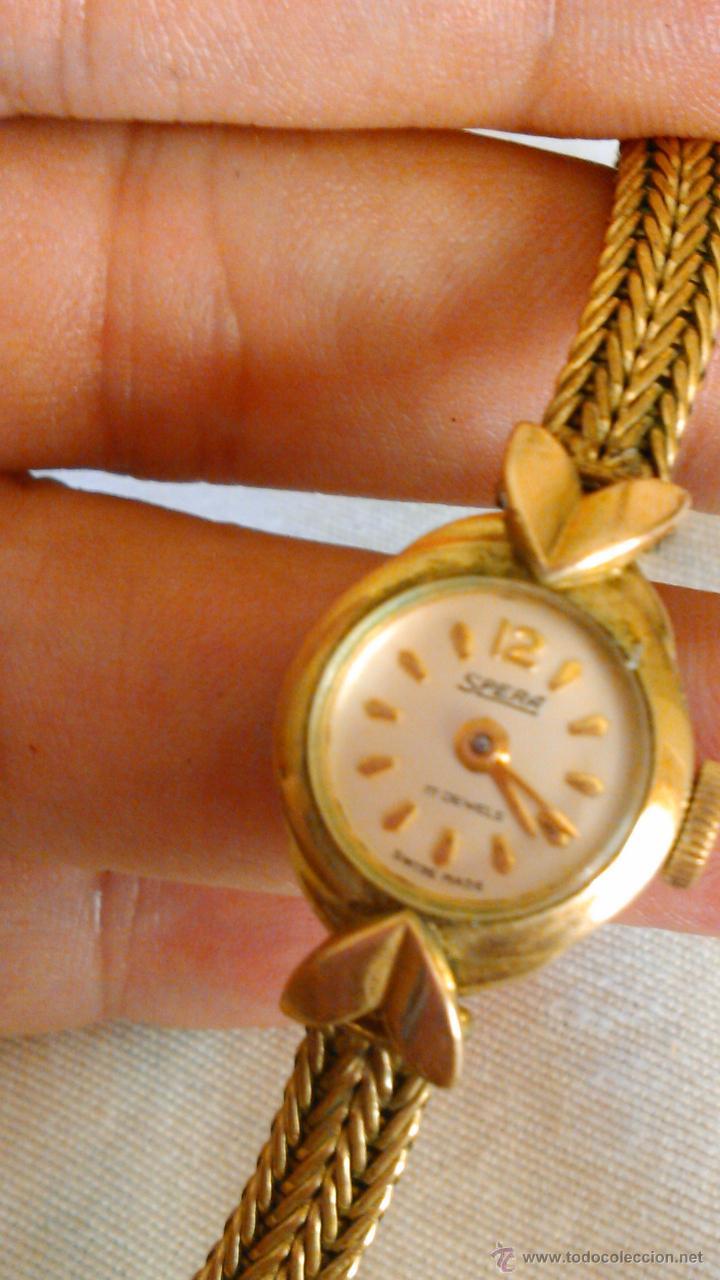Relojes de pulsera: Precioso reloj baño de oro , de señora marca SPERA 17 jewels SWISS MADE. - Foto 4 - 43479891