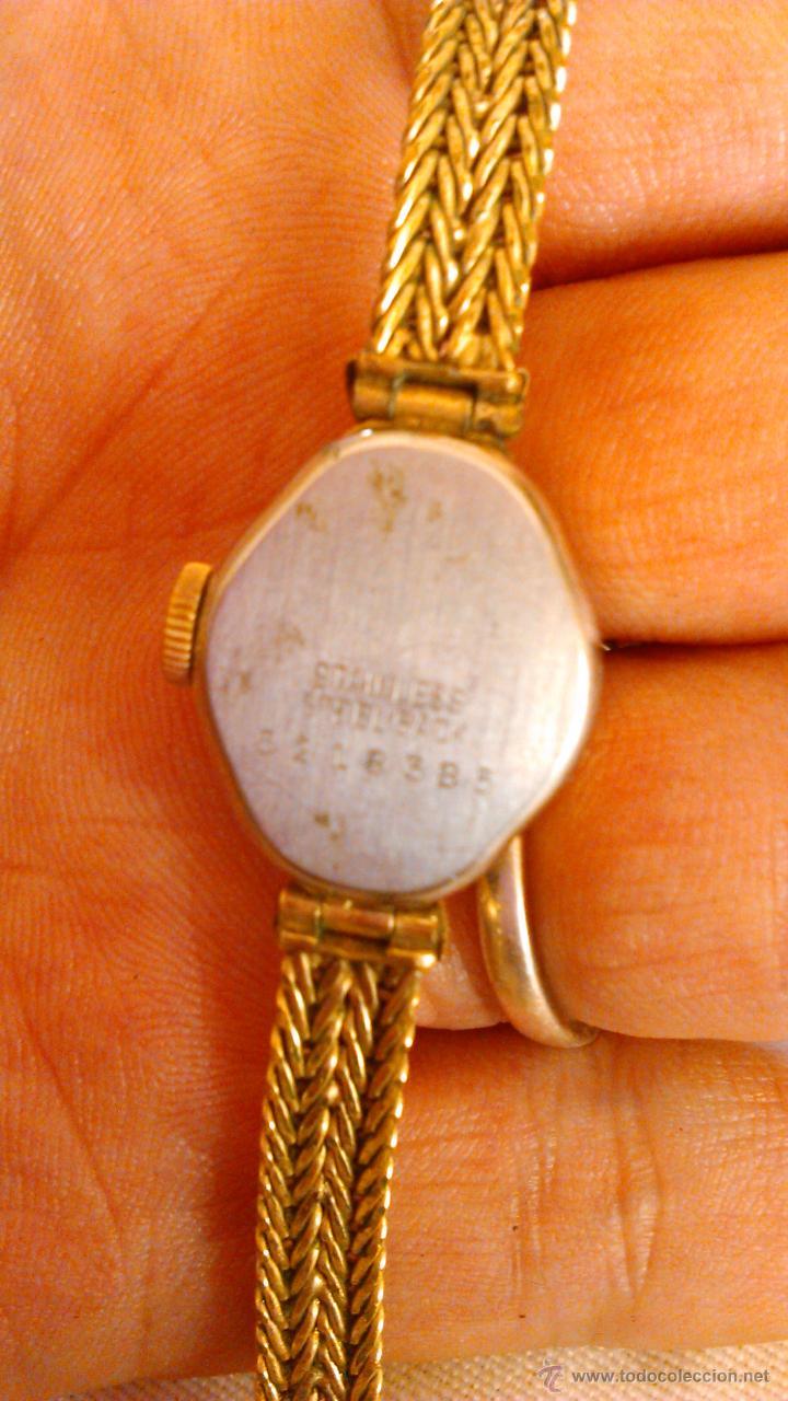 Relojes de pulsera: Precioso reloj baño de oro , de señora marca SPERA 17 jewels SWISS MADE. - Foto 5 - 43479891
