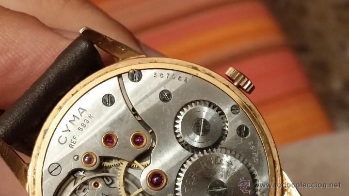 Relojes de pulsera: Reloj antiguo Cyma, con el afamado k-586 y un número de maquiaria 387063, muy bajo - Foto 23 - 43612719