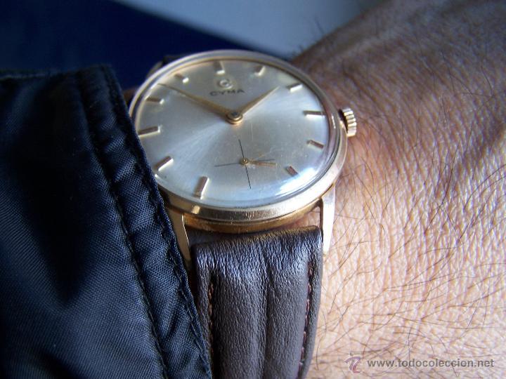 Relojes de pulsera: Reloj antiguo Cyma, con el afamado k-586 y un número de maquiaria 387063, muy bajo - Foto 30 - 43612719