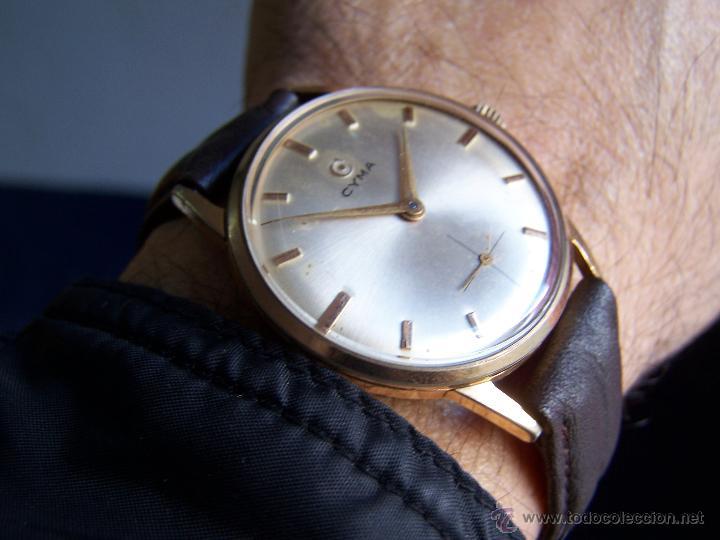Relojes de pulsera: Reloj antiguo Cyma, con el afamado k-586 y un número de maquiaria 387063, muy bajo - Foto 32 - 43612719