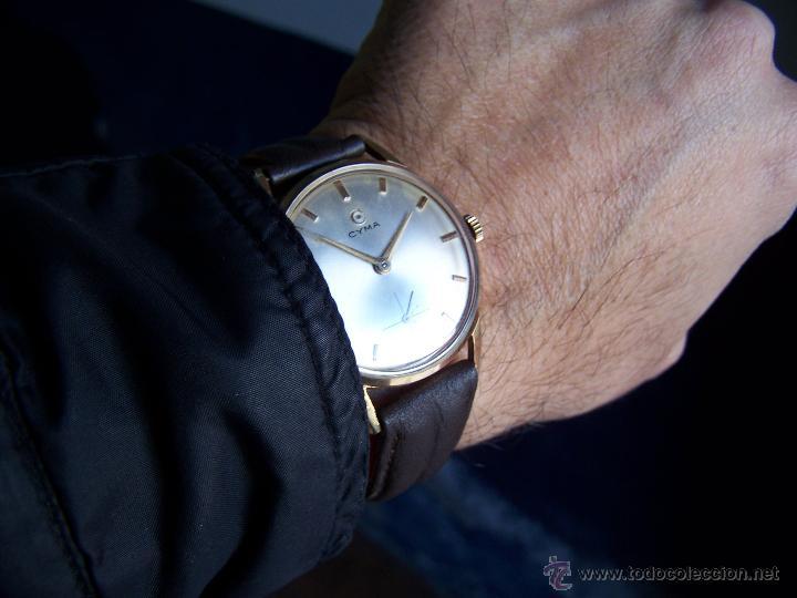 Relojes de pulsera: Reloj antiguo Cyma, con el afamado k-586 y un número de maquiaria 387063, muy bajo - Foto 35 - 43612719