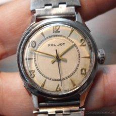 Relojes de pulsera: RELOJ POLJOT (RUSO) AÑOS 50/60 - ACERO - PULSERA ORIGINAL - SEGUNDERO CENTRAL. Lote 43911514
