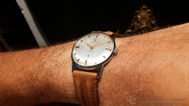 Relojes de pulsera: Antiguo reloj de caballero Cyma Tavanes, a cuerda, de finales de los 50, del raro calibre 484.2 - Foto 2 - 43939708