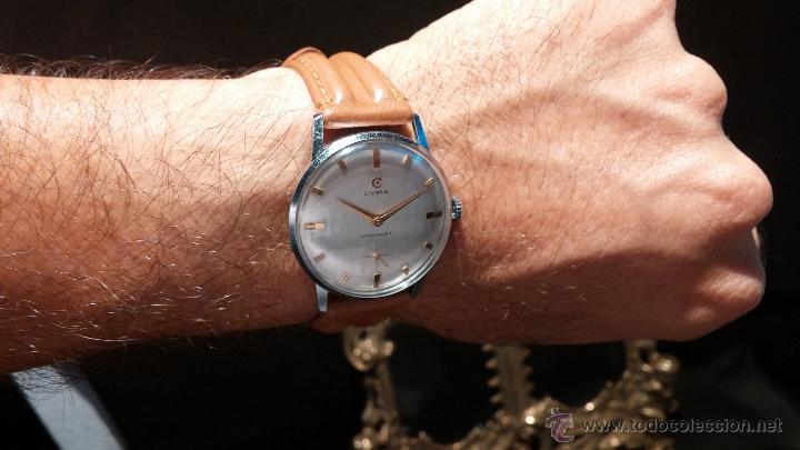 Relojes de pulsera: Antiguo reloj de caballero Cyma Tavanes, a cuerda, de finales de los 50, del raro calibre 484.2 - Foto 6 - 43939708