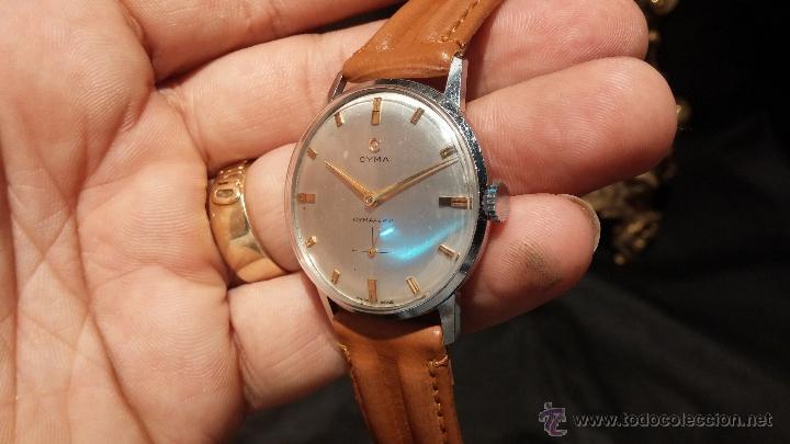 Relojes de pulsera: Antiguo reloj de caballero Cyma Tavanes, a cuerda, de finales de los 50, del raro calibre 484.2 - Foto 8 - 43939708
