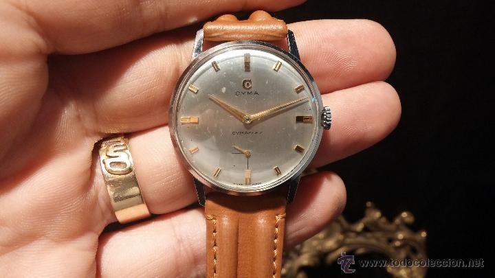 Relojes de pulsera: Antiguo reloj de caballero Cyma Tavanes, a cuerda, de finales de los 50, del raro calibre 484.2 - Foto 12 - 43939708