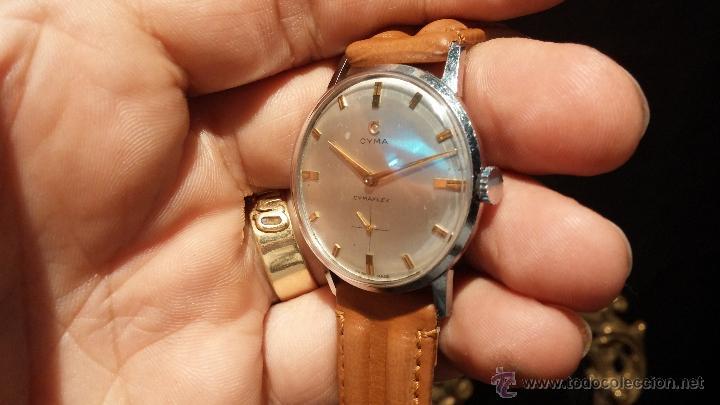 Relojes de pulsera: Antiguo reloj de caballero Cyma Tavanes, a cuerda, de finales de los 50, del raro calibre 484.2 - Foto 13 - 43939708