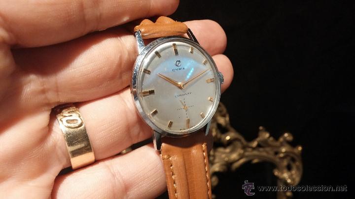 Relojes de pulsera: Antiguo reloj de caballero Cyma Tavanes, a cuerda, de finales de los 50, del raro calibre 484.2 - Foto 14 - 43939708