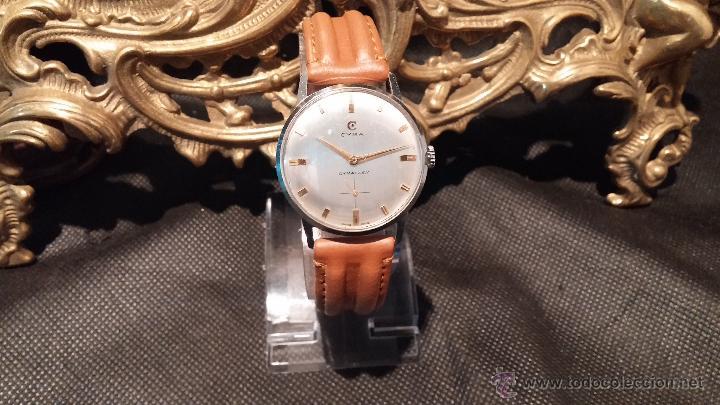 Relojes de pulsera: Antiguo reloj de caballero Cyma Tavanes, a cuerda, de finales de los 50, del raro calibre 484.2 - Foto 20 - 43939708