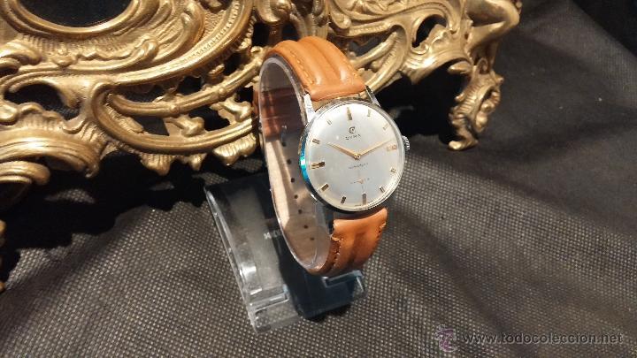 Relojes de pulsera: Antiguo reloj de caballero Cyma Tavanes, a cuerda, de finales de los 50, del raro calibre 484.2 - Foto 21 - 43939708