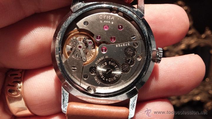 Relojes de pulsera: Antiguo reloj de caballero Cyma Tavanes, a cuerda, de finales de los 50, del raro calibre 484.2 - Foto 26 - 43939708