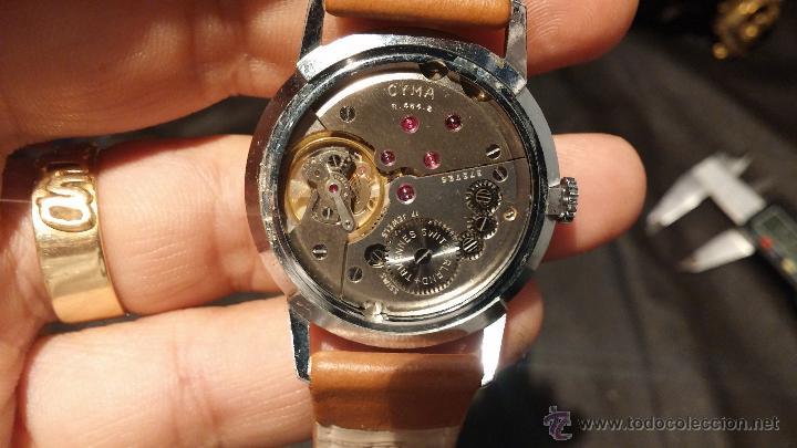 Relojes de pulsera: Antiguo reloj de caballero Cyma Tavanes, a cuerda, de finales de los 50, del raro calibre 484.2 - Foto 27 - 43939708