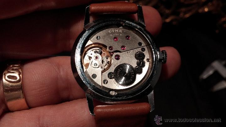 Relojes de pulsera: Antiguo reloj de caballero Cyma Tavanes, a cuerda, de finales de los 50, del raro calibre 484.2 - Foto 30 - 43939708