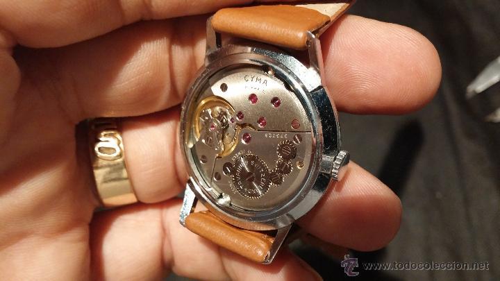 Relojes de pulsera: Antiguo reloj de caballero Cyma Tavanes, a cuerda, de finales de los 50, del raro calibre 484.2 - Foto 32 - 43939708