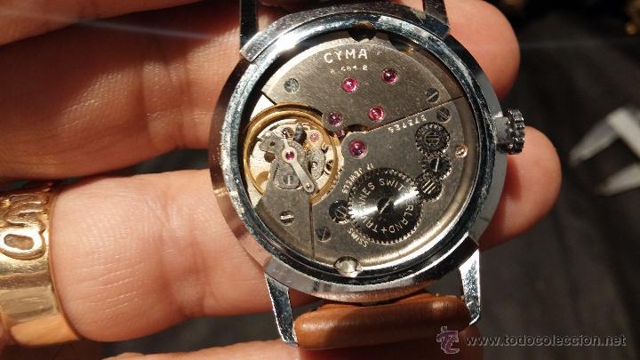 Relojes de pulsera: Antiguo reloj de caballero Cyma Tavanes, a cuerda, de finales de los 50, del raro calibre 484.2 - Foto 34 - 43939708