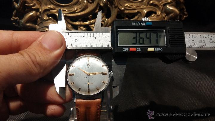 Relojes de pulsera: Antiguo reloj de caballero Cyma Tavanes, a cuerda, de finales de los 50, del raro calibre 484.2 - Foto 36 - 43939708