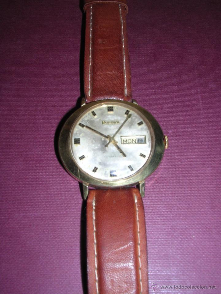 ANTIGUO RELOJ BULOVA AUTOMATICO CHAPADO . ESTADO DE MARCHA 4X4,4 CM. (Relojes - Pulsera Carga Manual)