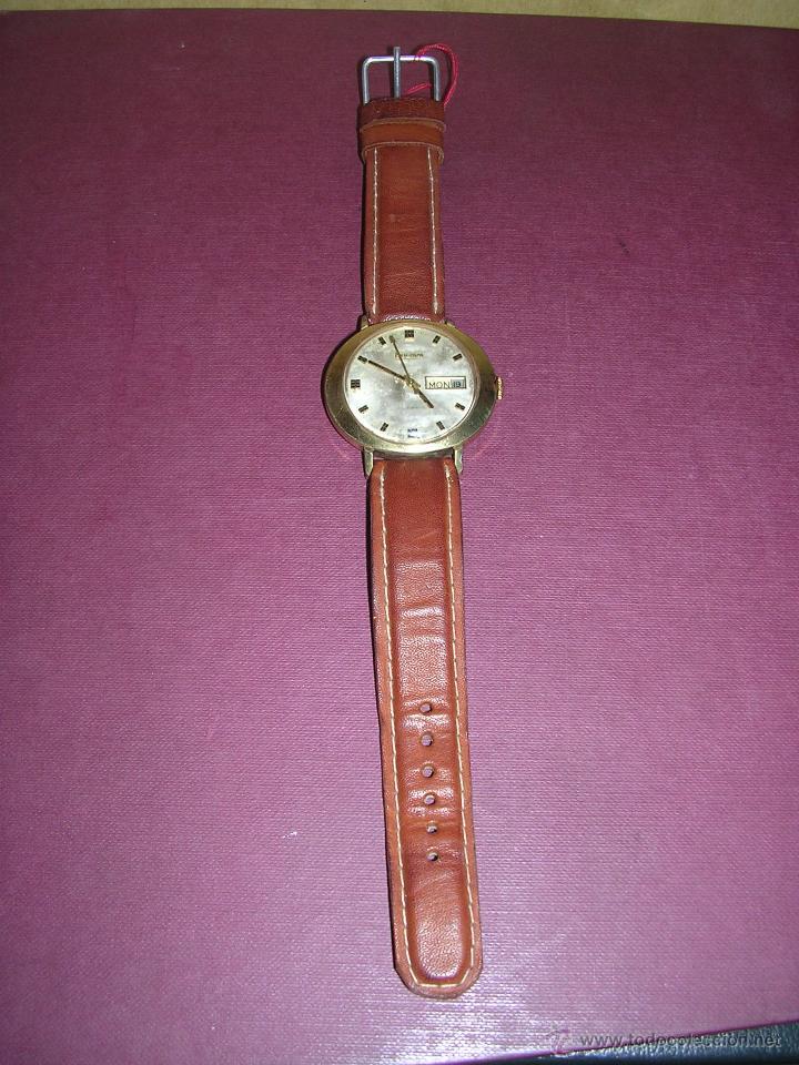 Relojes de pulsera: ANTIGUO RELOJ BULOVA AUTOMATICO CHAPADO . ESTADO DE MARCHA 4X4,4 CM. - Foto 2 - 44200172