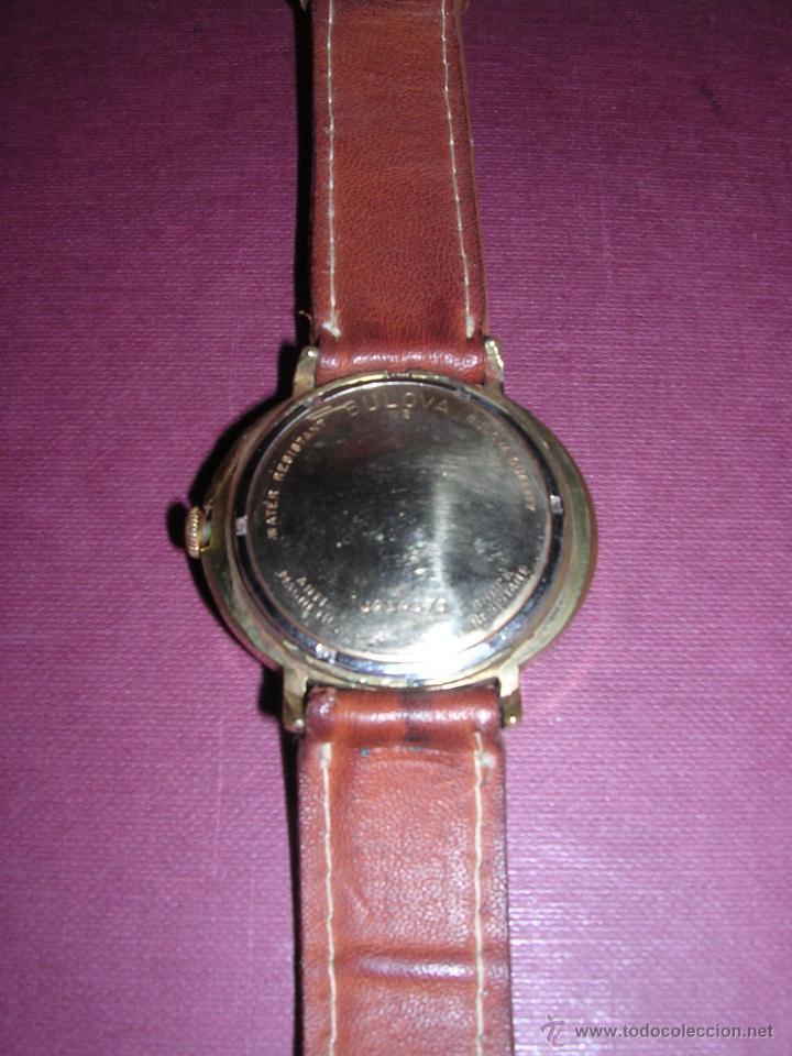 Relojes de pulsera: ANTIGUO RELOJ BULOVA AUTOMATICO CHAPADO . ESTADO DE MARCHA 4X4,4 CM. - Foto 3 - 44200172